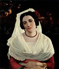 porträt einer italienerin by christian adam