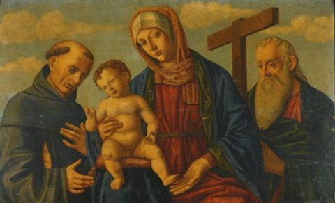 a sacra conversazione : the madonna and child with saints francis and andrew by giovanni di niccolò mansueti
