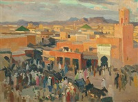 place jamaa el fna, marrakech by jean dulac