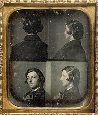 multiple portrait of james duncan graham, jr. by alexander hesler