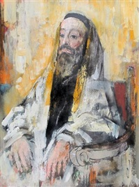 seated old man by jack harold markell
