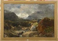paysage de montagne au ruisseau by dionisio fierros