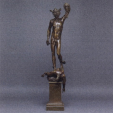 Perseus Holding The Head Of Medusa By Benvenuto Cellini On
