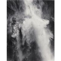 waterfall, yosemite, california by pirkle jones