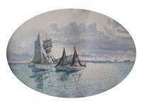 goëlette et bâteaux de pêche by alphonse ruy