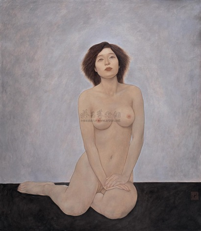 nude sitting on knee by xue yanqun