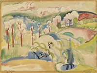 summer landscape with rolling hills by william zorach