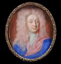 portrait d'homme au manteau bleu by benjamin arlaud