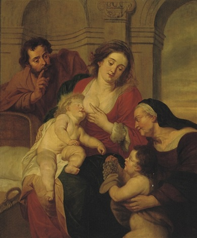 the holy family with saint john the baptist by erasmus quellinus the younger