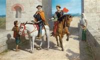 motiv aus dem leben des christopher columbus: die neue welt im westen für spanien oder für england by john rogers herbert