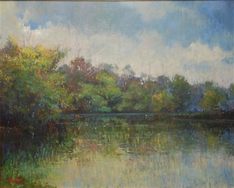 lake scene by teri thomas gilfilen