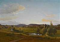 la vallee de lironcourt, vosges, france by jean ferdinand monchablon