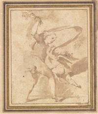 venus schlägt cupido mit einem blumenstrauss by lodovico carracci