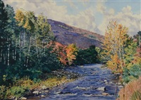 october glory, brandon brook, rochester, vermont by henry mcdaniel