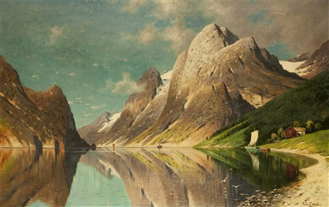 bergsee by fritz chwala