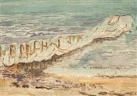 eisbarriere am strand by otto niemeyer-holstein