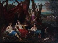 diane et ses compagnes au retour de la chasse by adriaen van der cabel