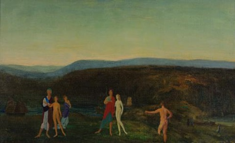 midsummer evening by arthur bowen davies