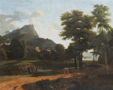 paysage antique aux philosophes by jean victor bertin