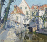 muurhuizen in amersfoort (historical houses) by hendrik jan wolter