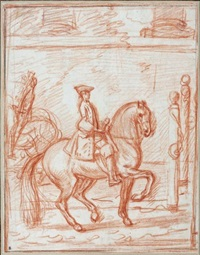 cavalier au manège by charles parrocel