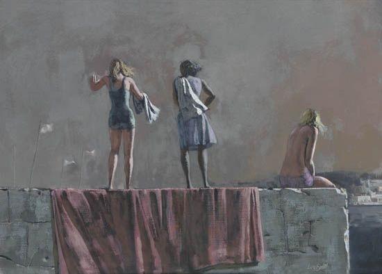 untitled three women by hughie lee smith