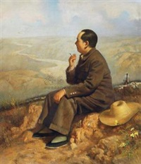毛泽东视察黄河 (mao zedong inspected yellow river) by liu borong