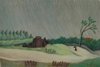 un matin de pluie by henri rousseau