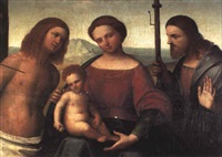 the madonna and child with sts. sebastian and james the greater by giovan battista benvenuti