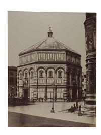 florence, le baptistère saint-jean by leopoldo alinari