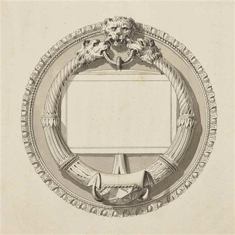 Projet De Carte Visite Pour Benjamin Francklin By Jean Dmosthne Dugourc