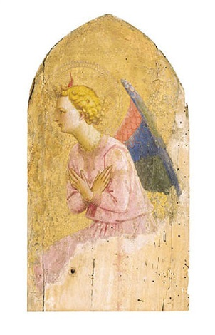 an angel in adoration by fra angelico