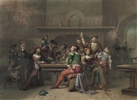the toast by cornelis willem hoevenaar the elder