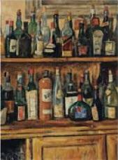 les bouteilles sur le buffet by takanori oguiss