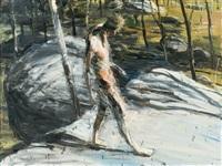 figure in moonbi landscape by euan macleod