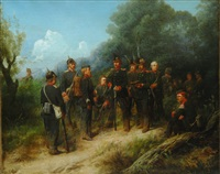 prussian soliders by christian sell the elder