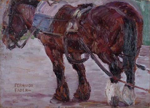 caballo de tiro by fernando fader