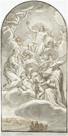 christus in der glorie by domenico corvi