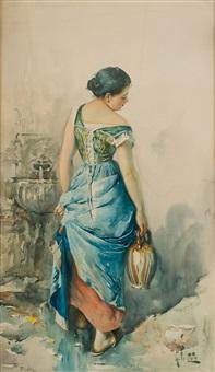 donna con anfora by arnaldo de lisio