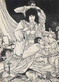 the beauty doctor (from a book of satyrs) by austin osman spare
