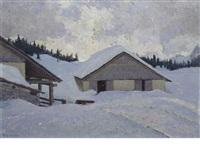 winter landscape by pio solero