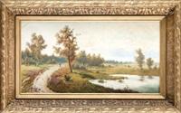 pejzaż z rzeką by jozef guranowski