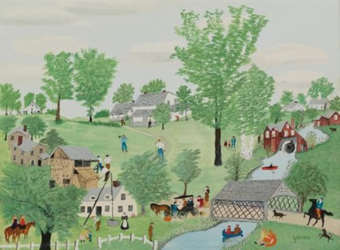 spring time by grandma moses