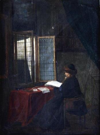 le philosophe devant sa fenêtre by jacobus vrel