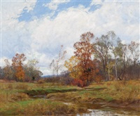 autumn stream by william merritt post
