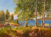 summer landscape by johan elis kortman