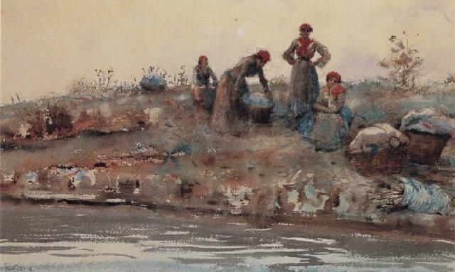 washerwomen in venice by ralph wormeley curtis