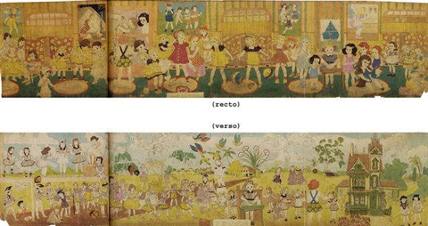 while inside they await developmentsthey are cleverly outwitted by henry darger