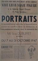 portraits à ressemblance extraite, à ressemblance cuite et confite dans la mémoire, à ressemblance éclatée dans la mémoire de mr jean dubuffet (bk w/20 works) by jean dubuffet