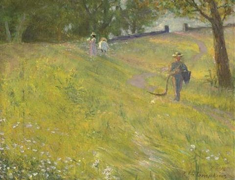 picking daisies by frank hector tompkins